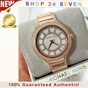 NWT Michael Kors Rose Gold-Tone Kerry Watch MK3313